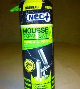 Mousse expansive Nec+ sans polyuréthane