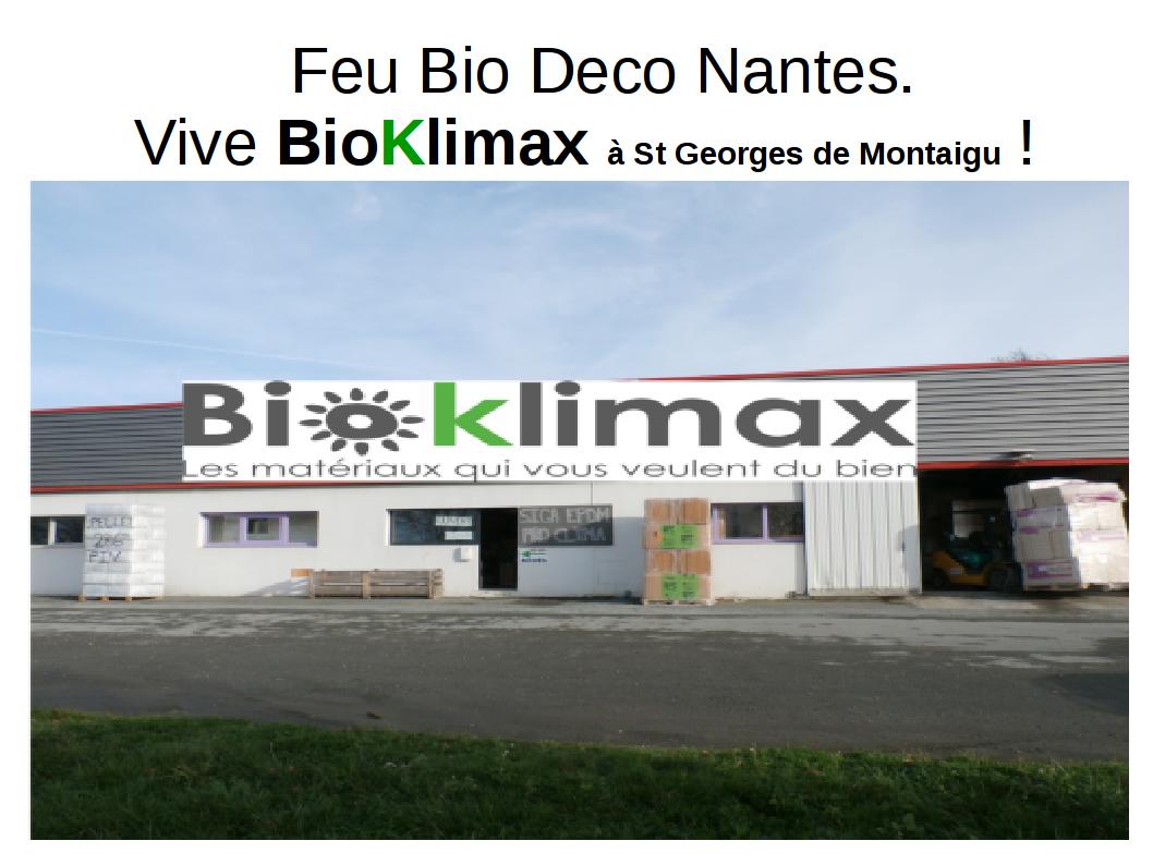 Bio Bois Déco Nantes a fermé. BioKlimax vous accueille